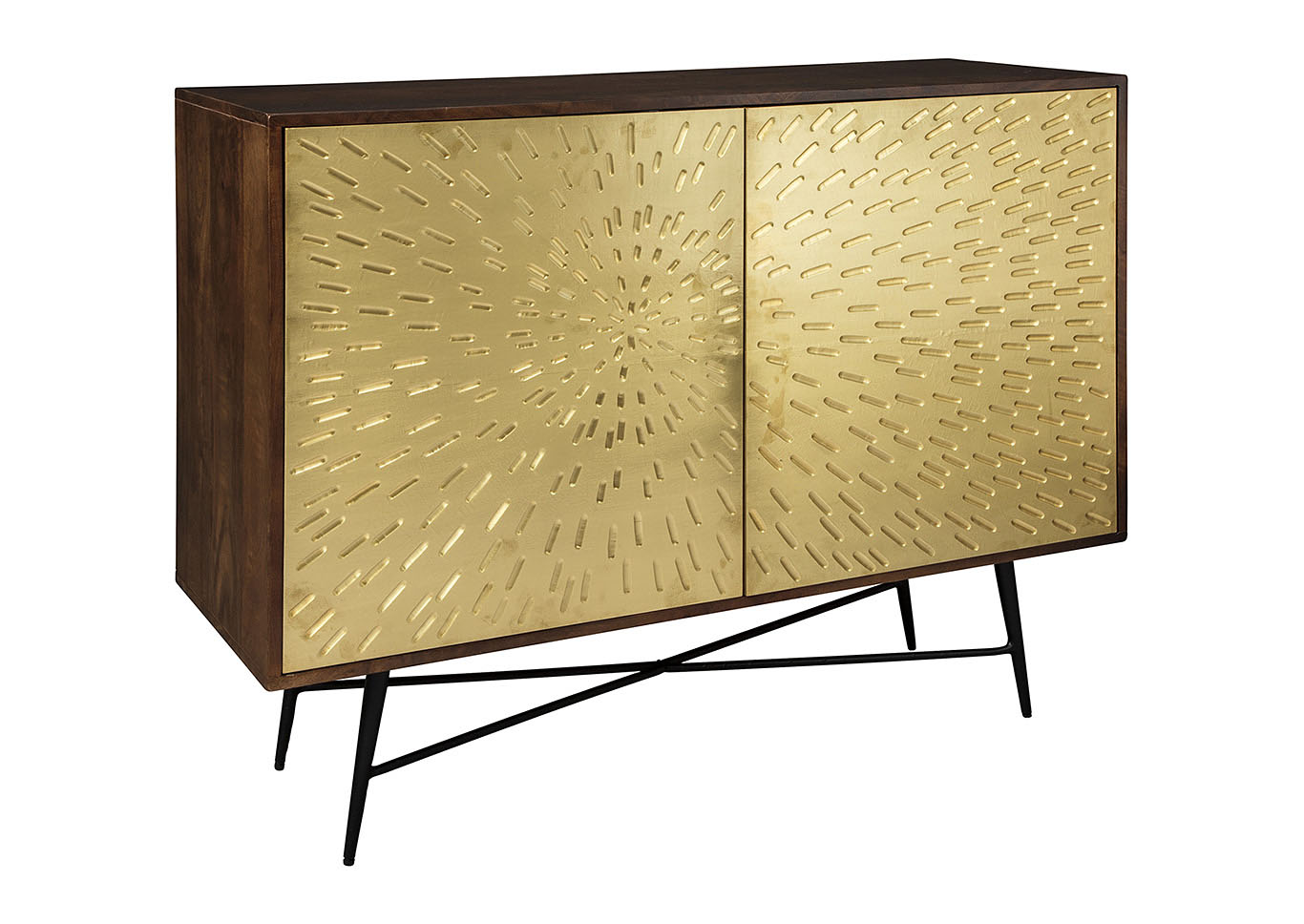 Majaci Brown/Gold Accent Cabinet,Signature Design By Ashley