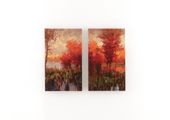 Red, Orange, Green & Blue Andie Wall Art Set (Set of 2),ABF Signature Design by Ashley