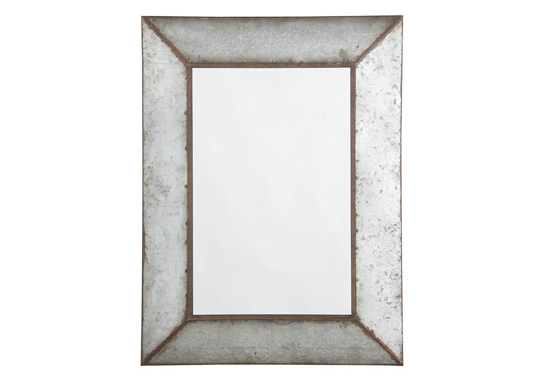 O'Tallay Antique Gray Accent Mirror,Signature Design by Ashley