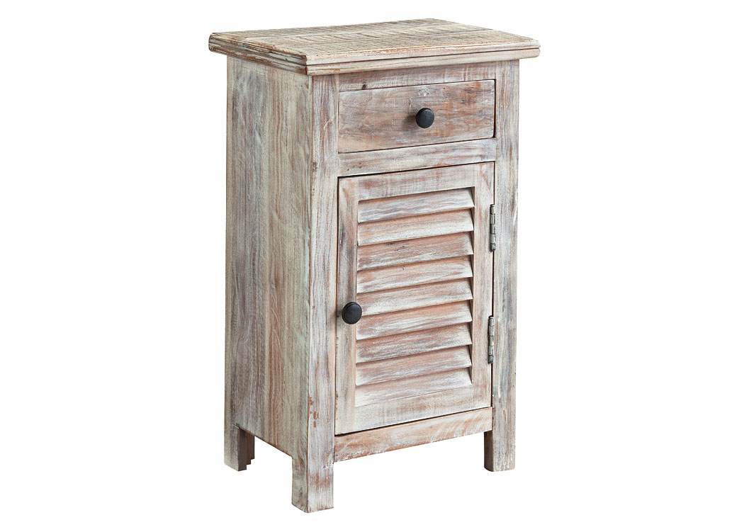 Charlowe White Wash Door Night Stand,ABF Signature Design by Ashley