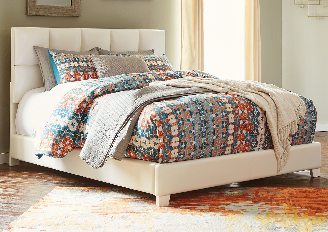 Contemporary Upholstered Beds Multi Queen Upholstered Bed,ABF Signature Design by Ashley