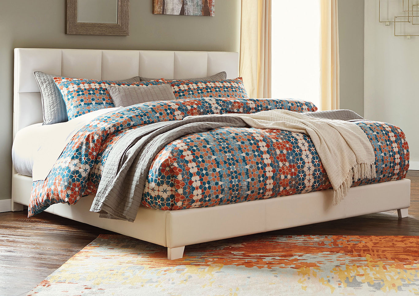 Contemporary Upholstered Beds Multi King Upholstered Bed,ABF Signature Design by Ashley