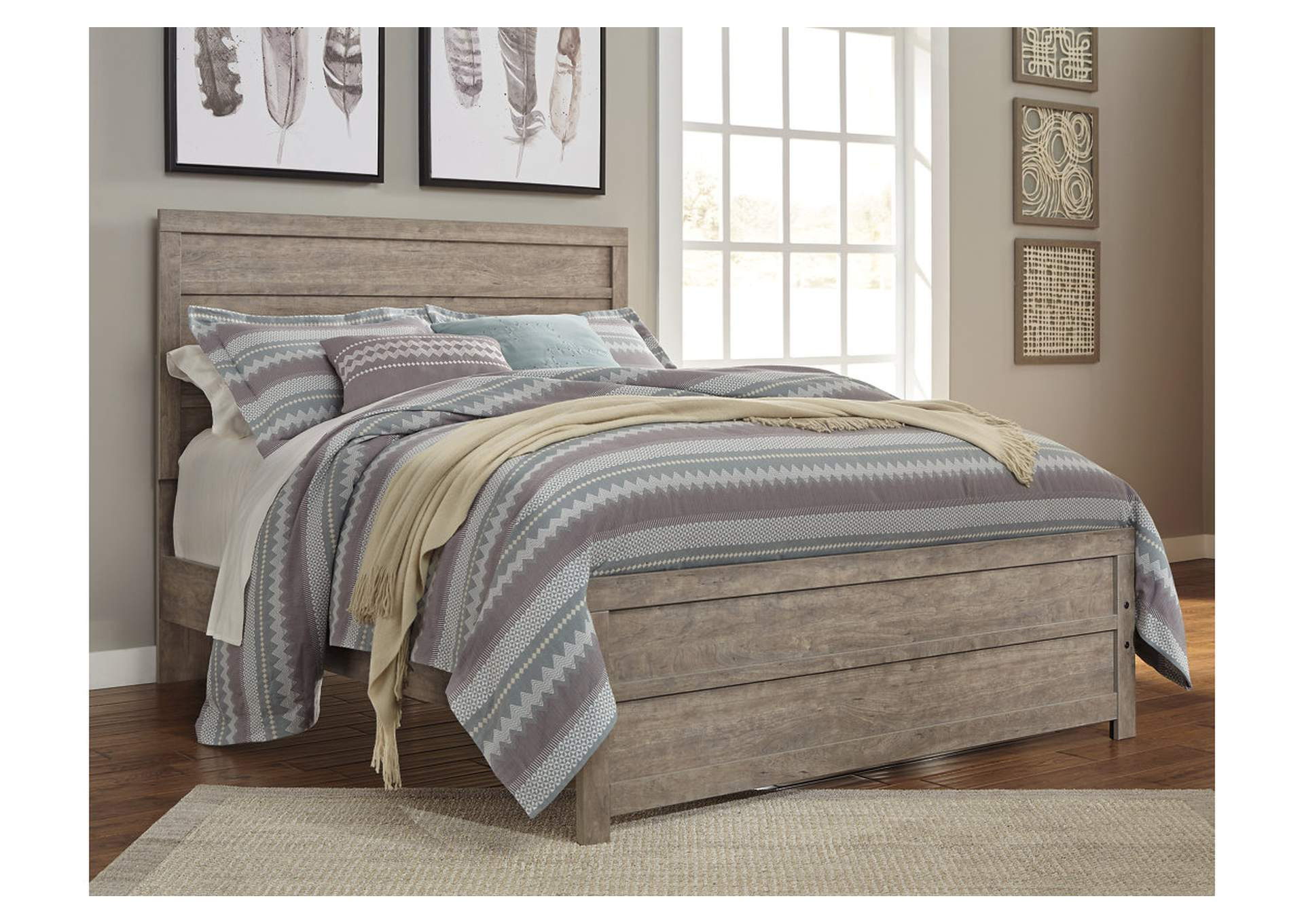 Culverbach Gray Queen/Full Panel Bed,ABF Signature Design by Ashley