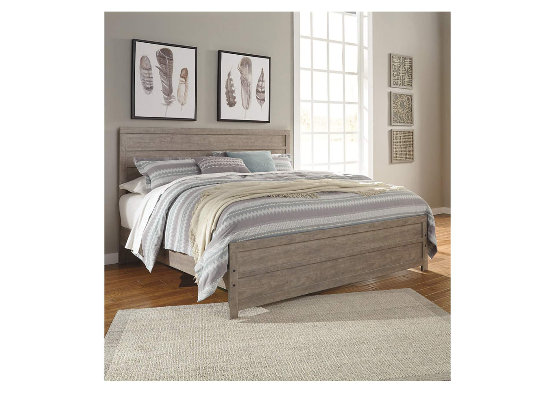 Culverbach Gray King Panel Bed,Signature Design By Ashley
