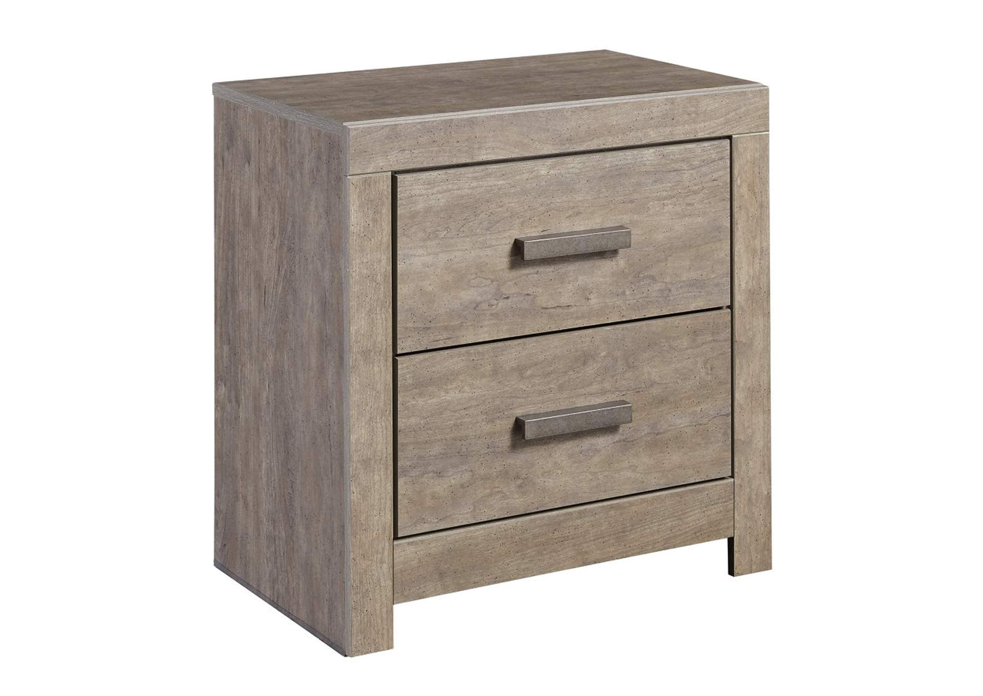 Culverbach Gray Two Drawer Night Stand,ABF Signature Design by Ashley