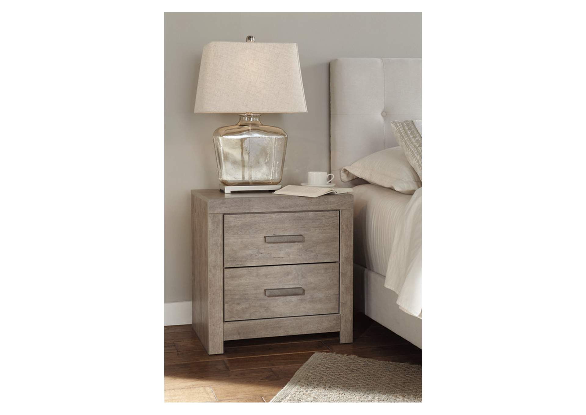 Culverbach Gray Two Drawer Nightstand,Signature Design By Ashley