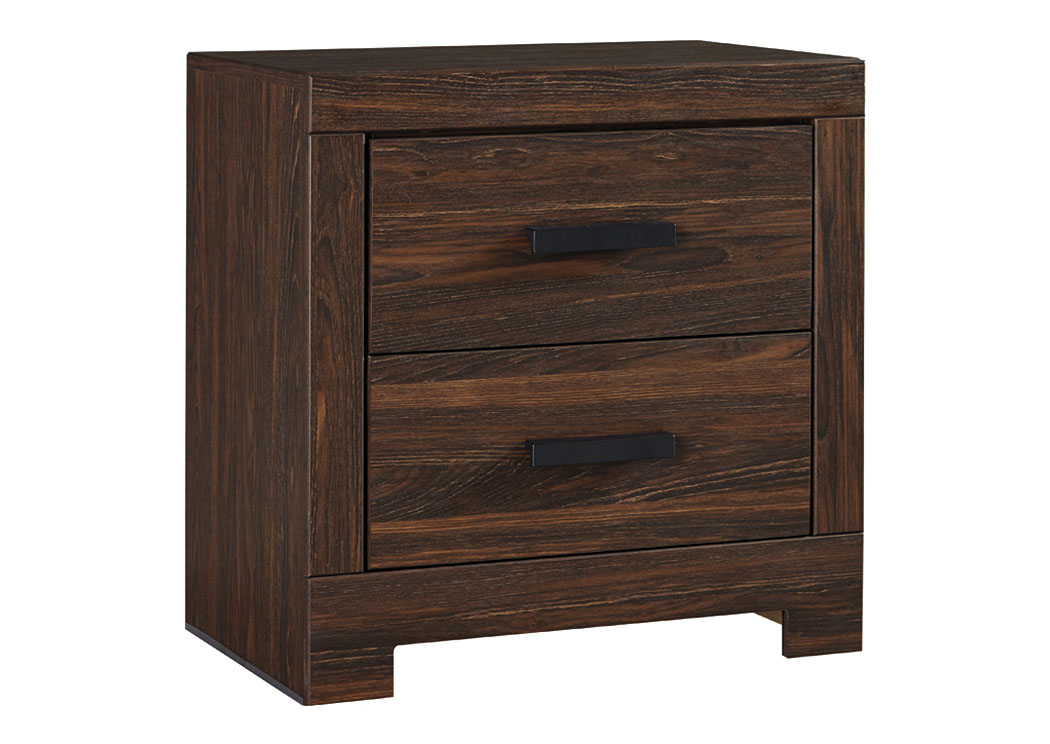 Arkaline Brown Two Drawer Night Stand,ABF Signature Design by Ashley