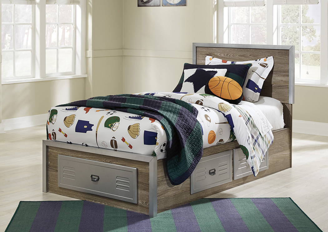 McKeeth Gray Twin Storage Bed,Signature Design By Ashley