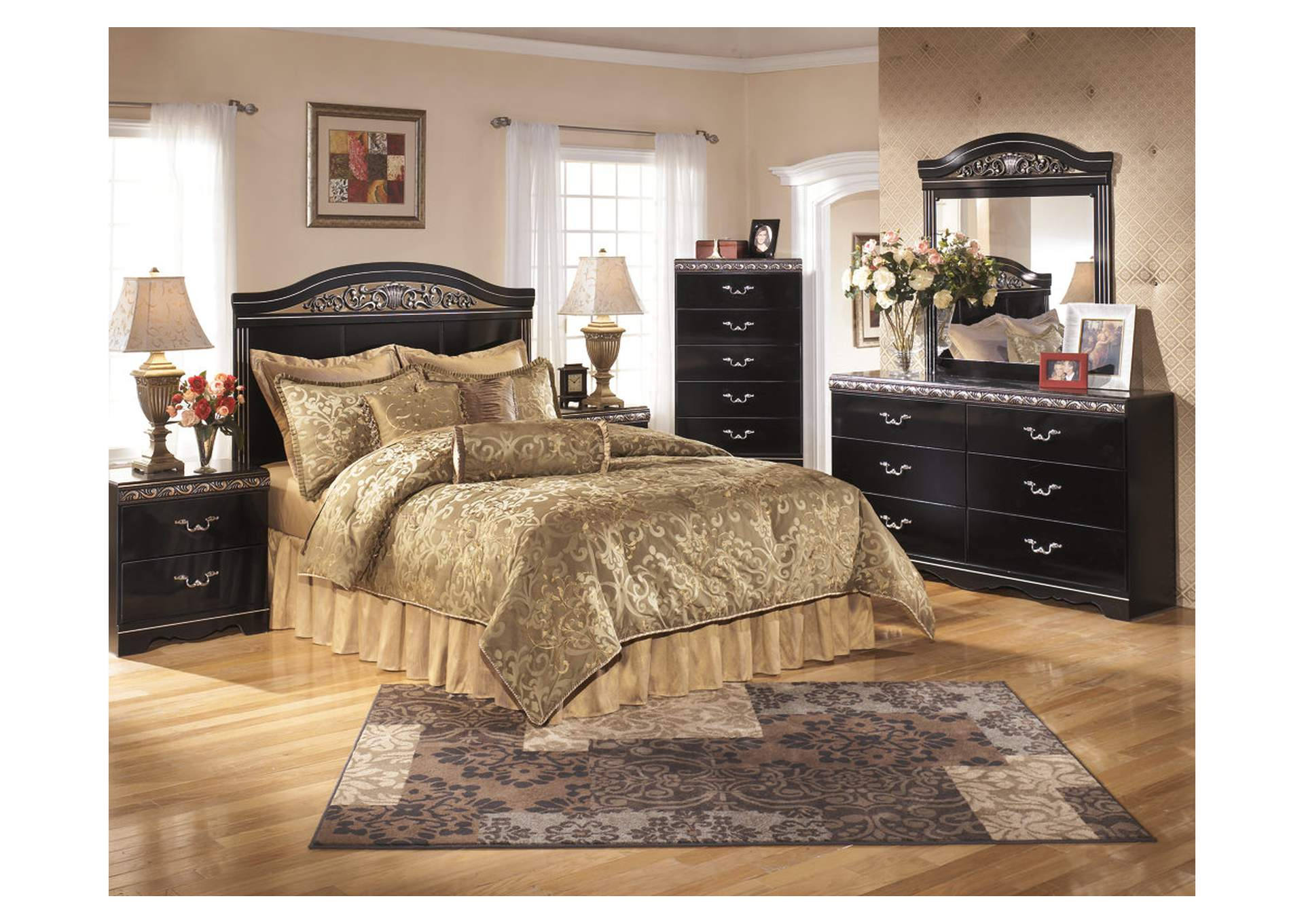 Constellations Queen/Full Panel Headboard w/Dresser, Mirror & Nightstand,Signature Design By Ashley