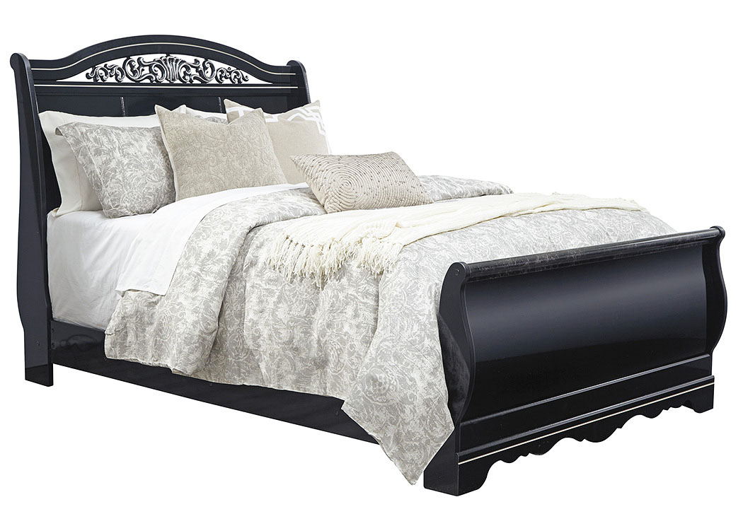 Constellations Black Queen Sleigh Bed,ABF Signature Design by Ashley