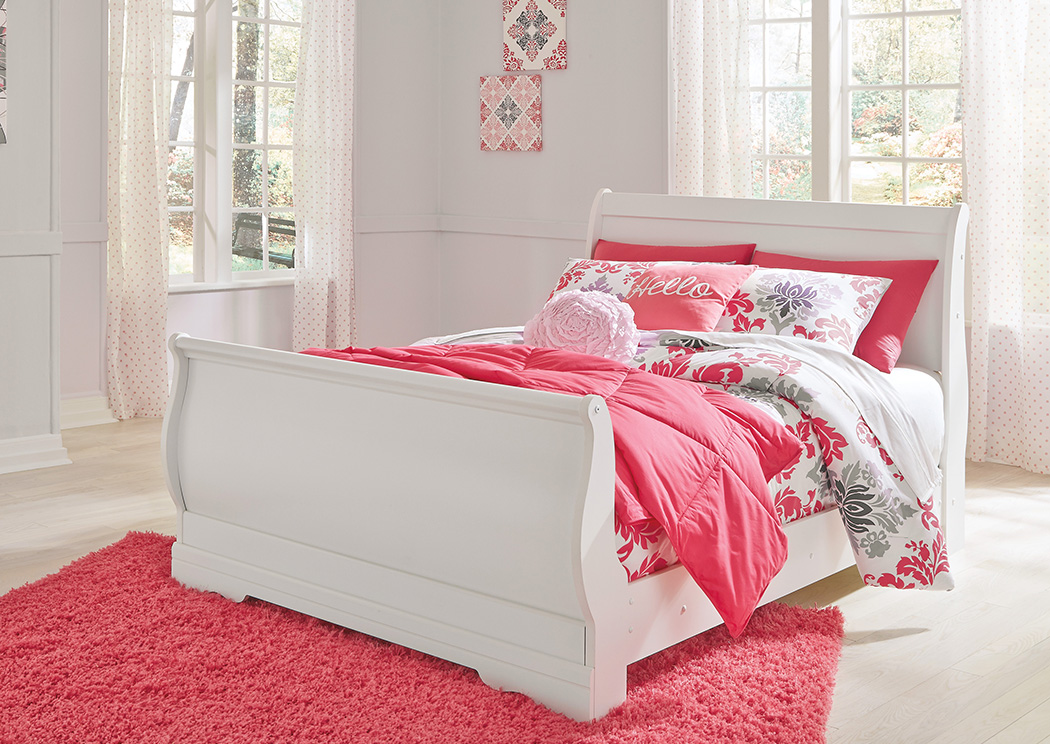 Anarasia White Full Sleigh Bed,ABF Signature Design by Ashley