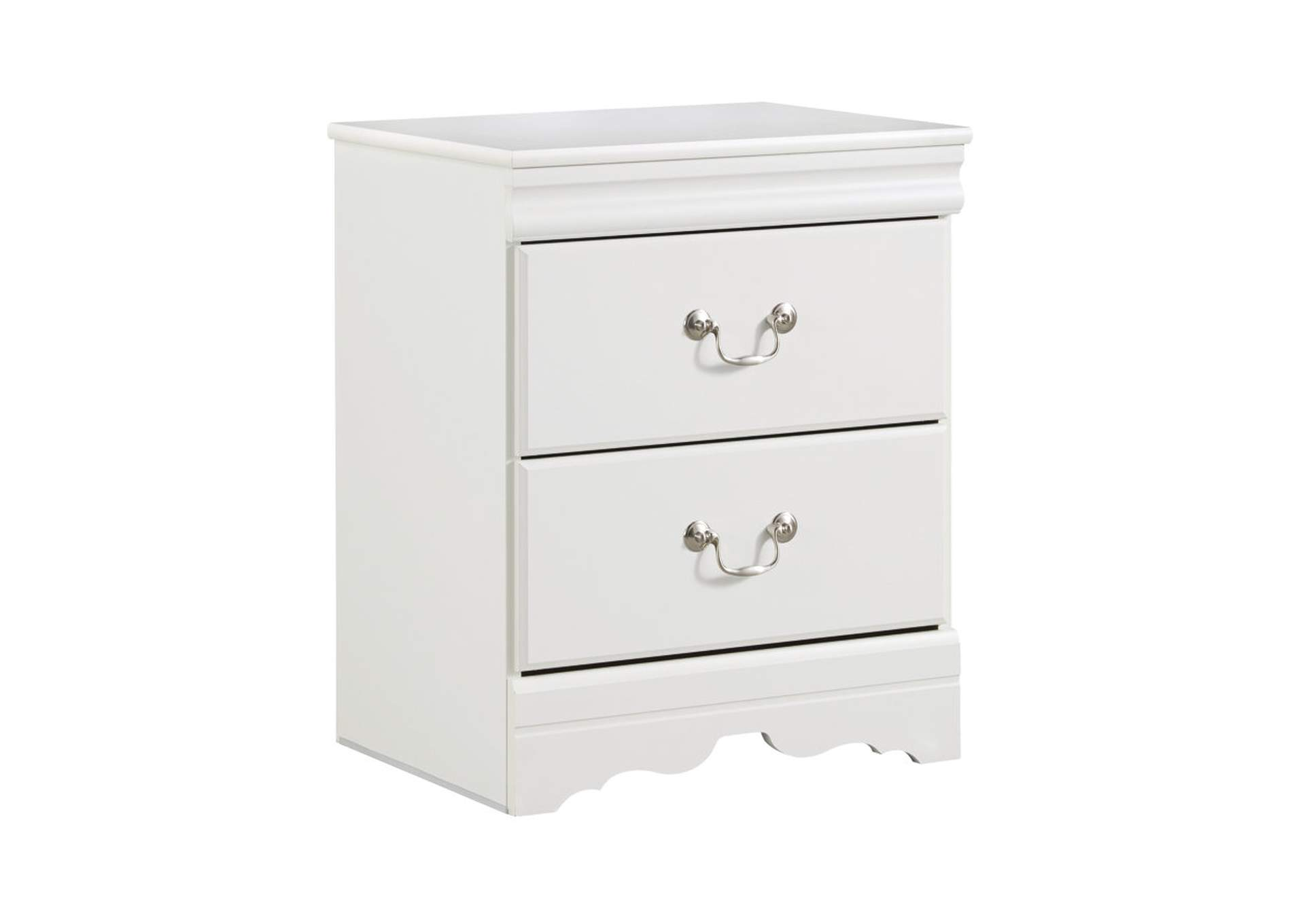 Anarasia White Two Drawer Nightstand,Signature Design By Ashley
