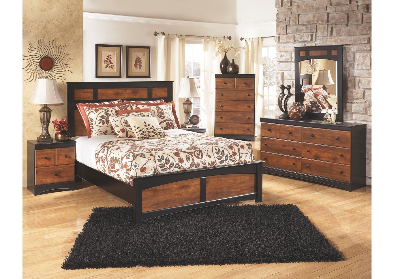 Aimwell Queen Panel Bed w/Dresser, Mirror & Drawer Chest,Signature Design By Ashley