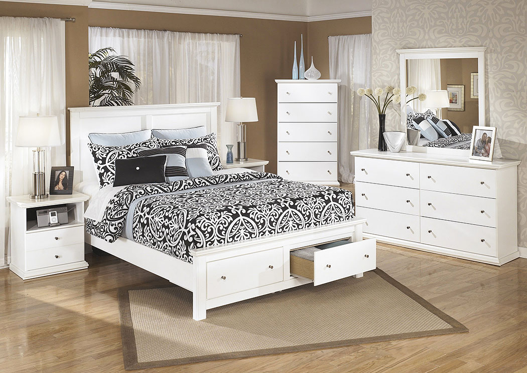 Bostwick Shoals Queen Storage Platform Bed w/Dresser, Mirror, Drawer Chest & Nightstand,Signature Design By Ashley