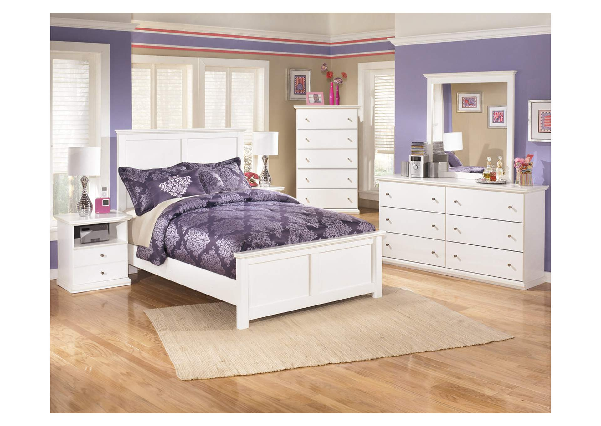 Bostwick Shoals Full Panel Bed w/Dresser, Mirror, Drawer Chest & 2 Nightstands,Signature Design By Ashley