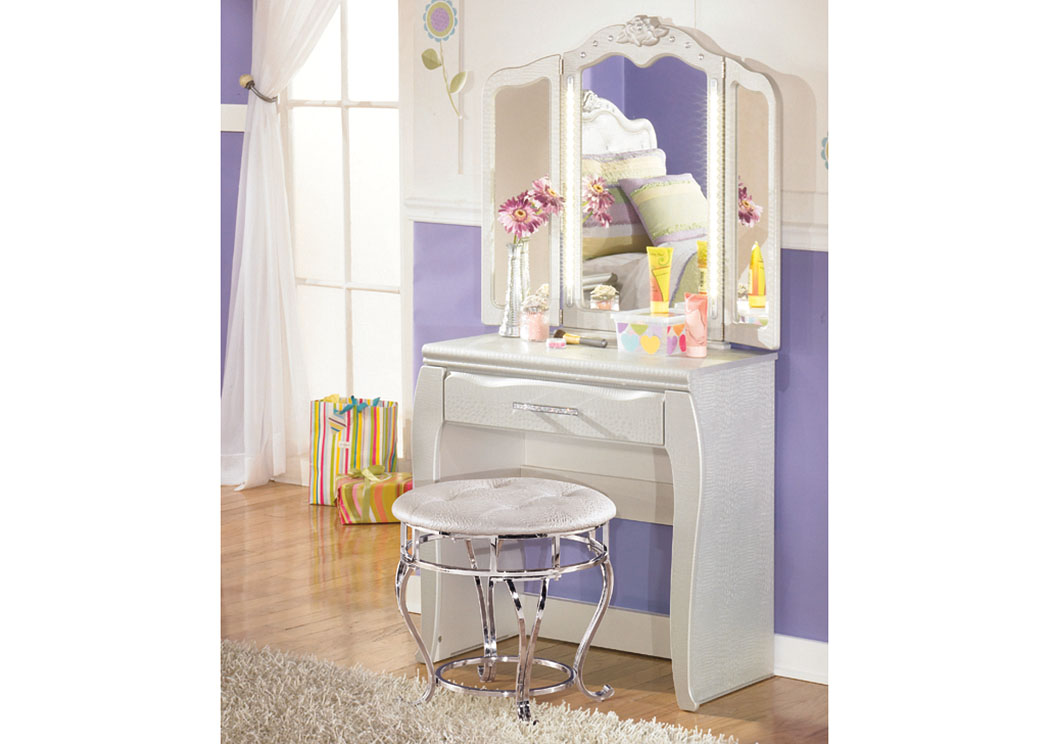 Zarollina Vanity w/ Mirror & Stool,ABF Signature Design by Ashley