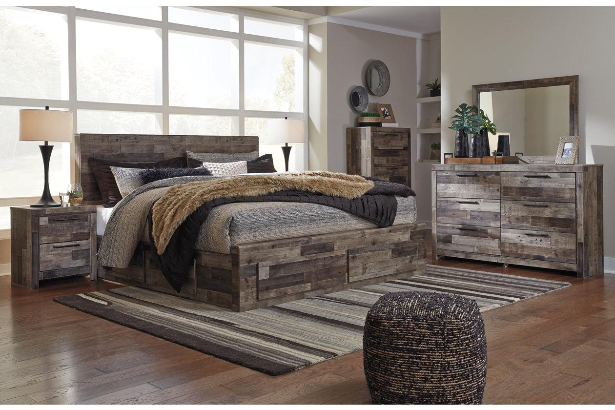 Spiller Furniture & Mattress Derekson Multi Gray King Storage Bed