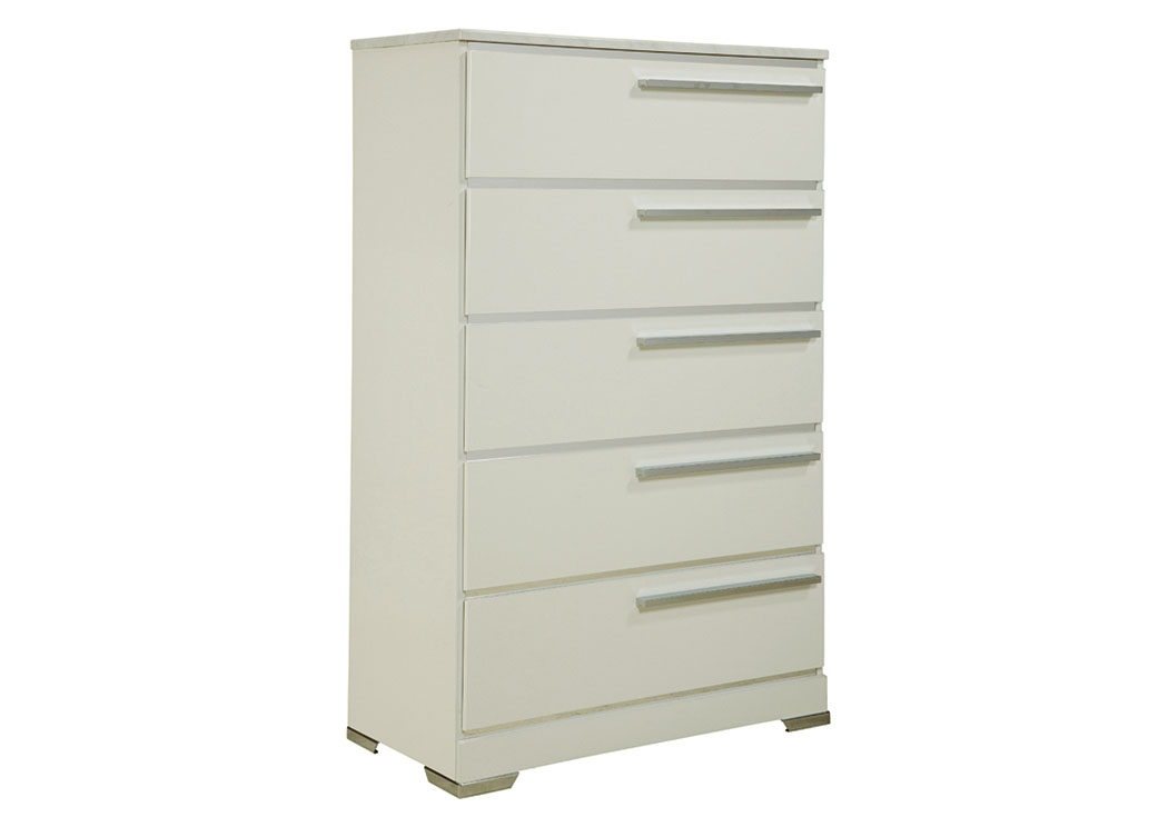Brillaney White 5 Drawer Chest,Signature Design By Ashley
