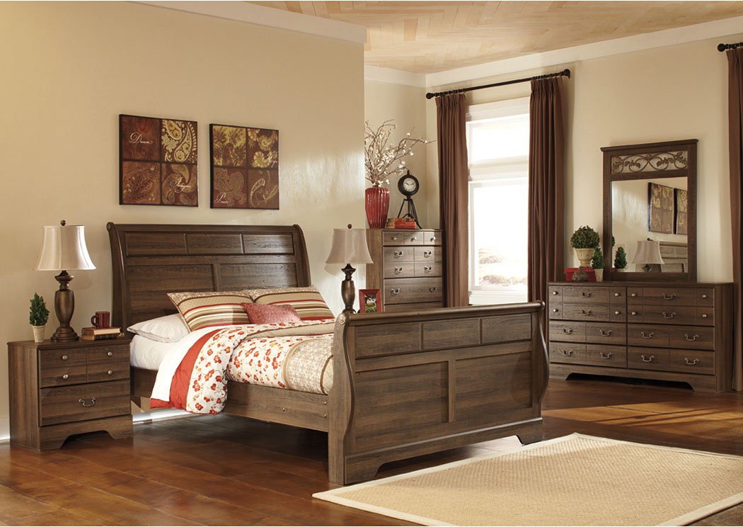 Allymore Queen Sleigh Bed w/Dresser, Mirror, Drawer Chest & Nightstand,Signature Design By Ashley