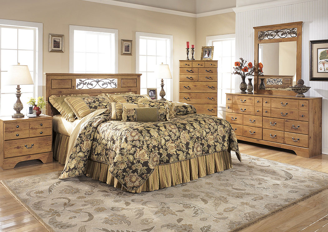Marvelous Bittersweet Queen/Full Panel Headboard W/Dresser, Mirror U0026  Nightstand,Signature Design