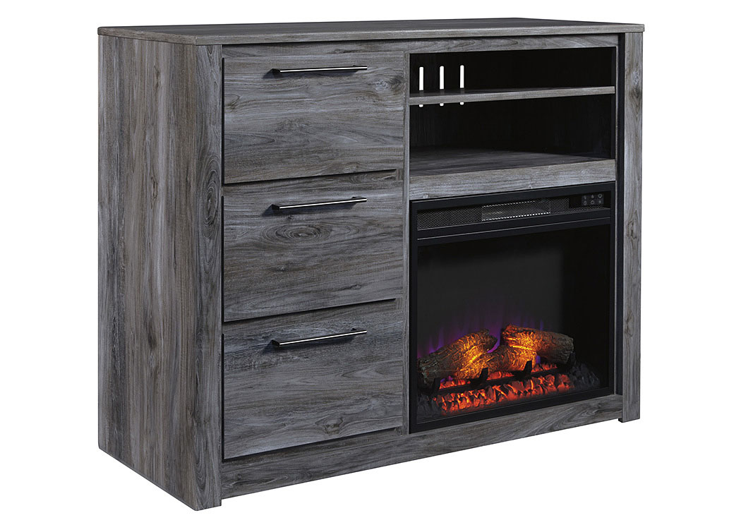 Baystorm Gray Media Chest w/Fireplace,Signature Design By Ashley