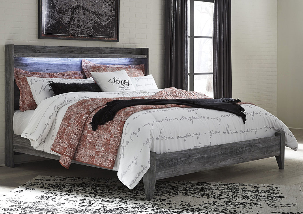 Baystorm Gray King Panel Bed,Signature Design By Ashley