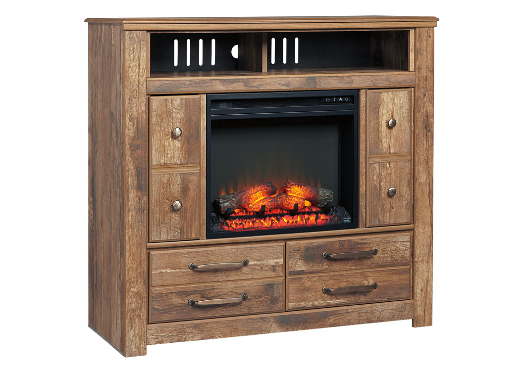 Blaneville Brown Media Chest w/Fireplace,Signature Design By Ashley