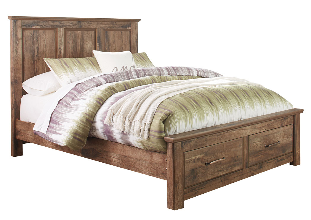 Blaneville Brown Queen Storage Platform Bed,Signature Design By Ashley