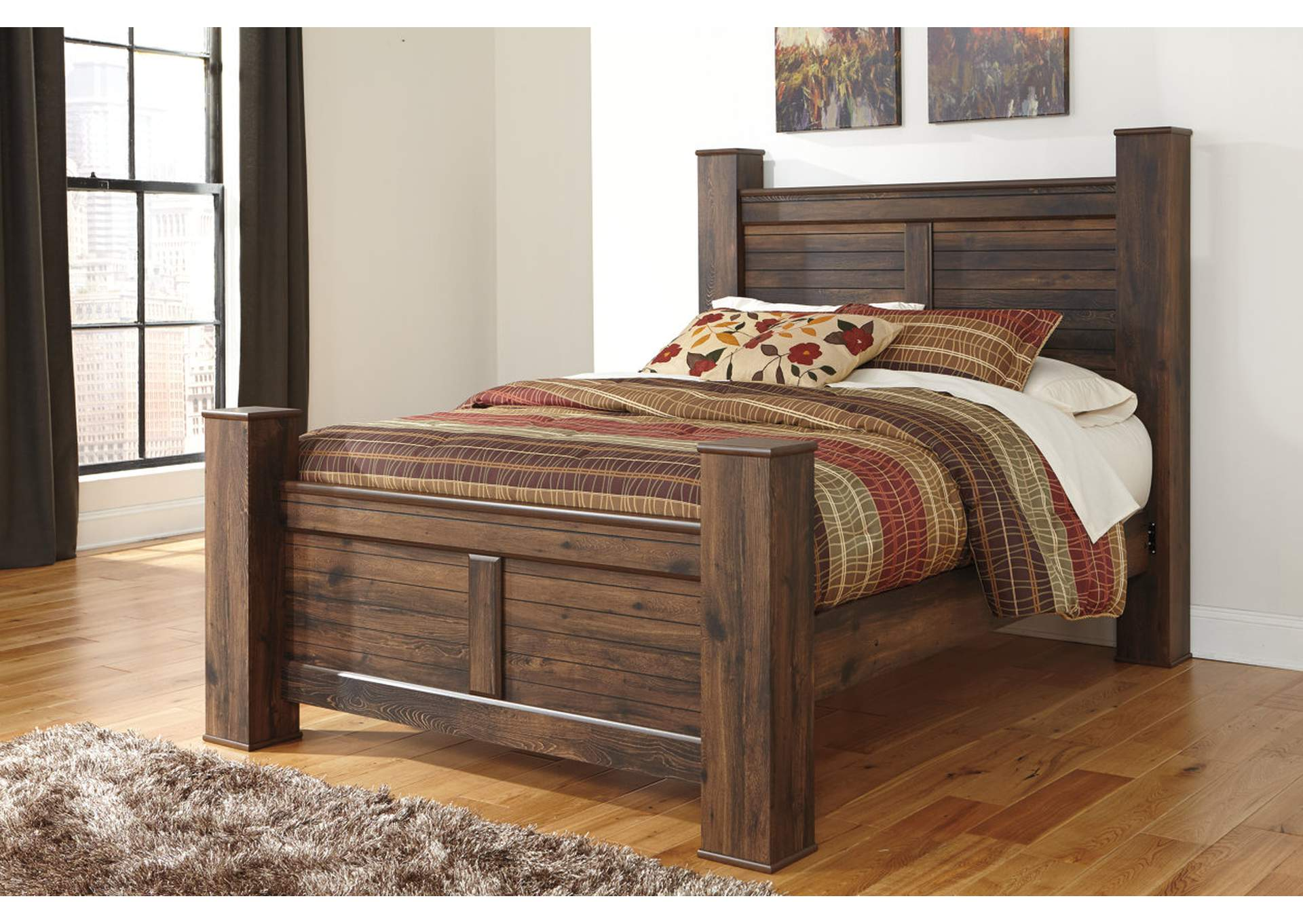 Quinden Queen Poster Bed,Signature Design By Ashley