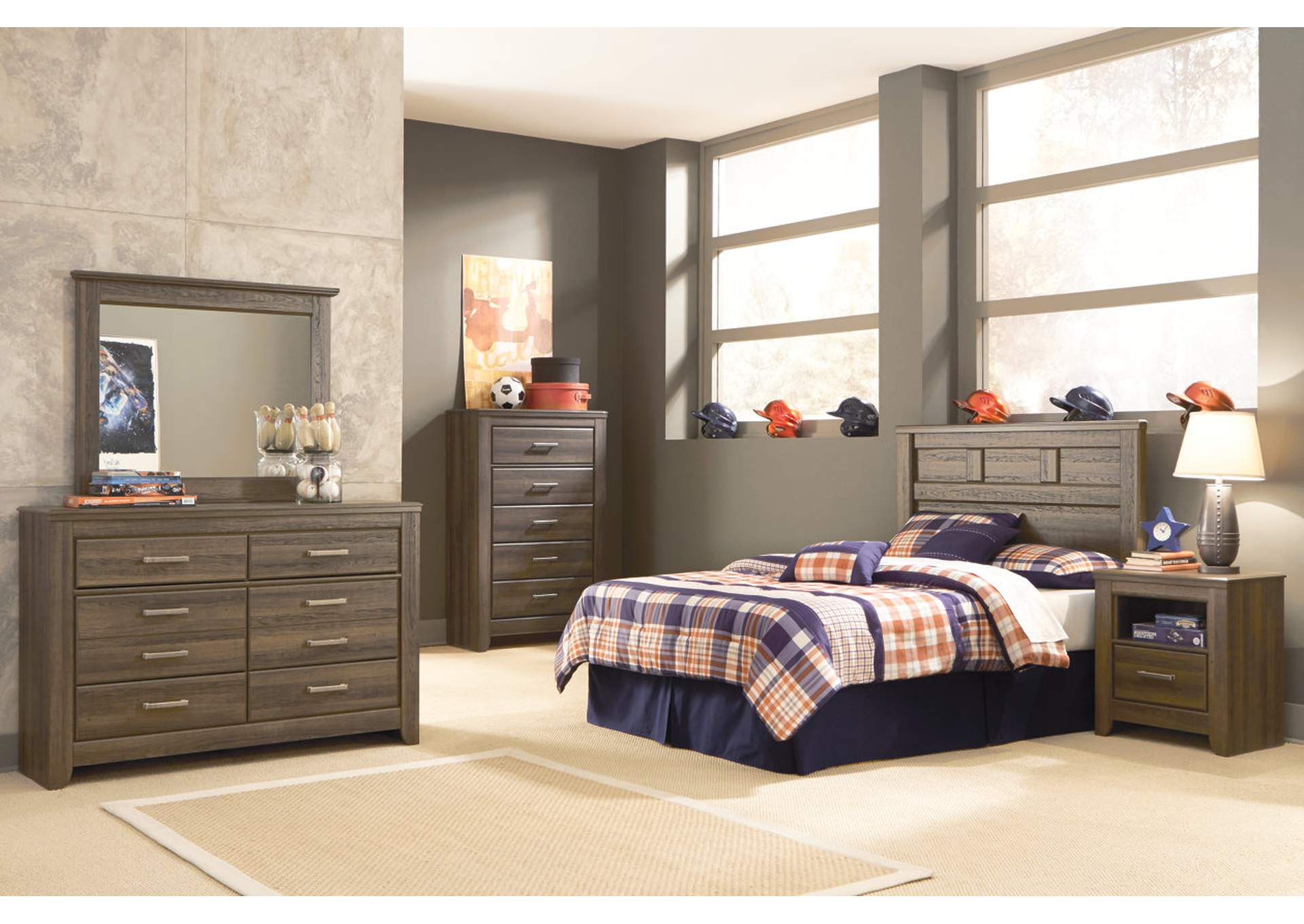 Juararo Full Panel Headboard, Youth Dresser, Mirror, Chest & One Drawer Nightstand,Signature Design By Ashley