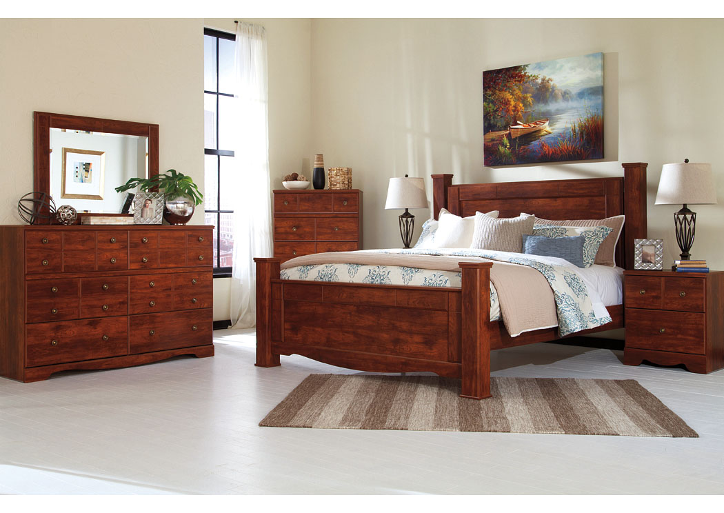 Brittberg Reddish Brown King Poster Bed,Signature Design by Ashley