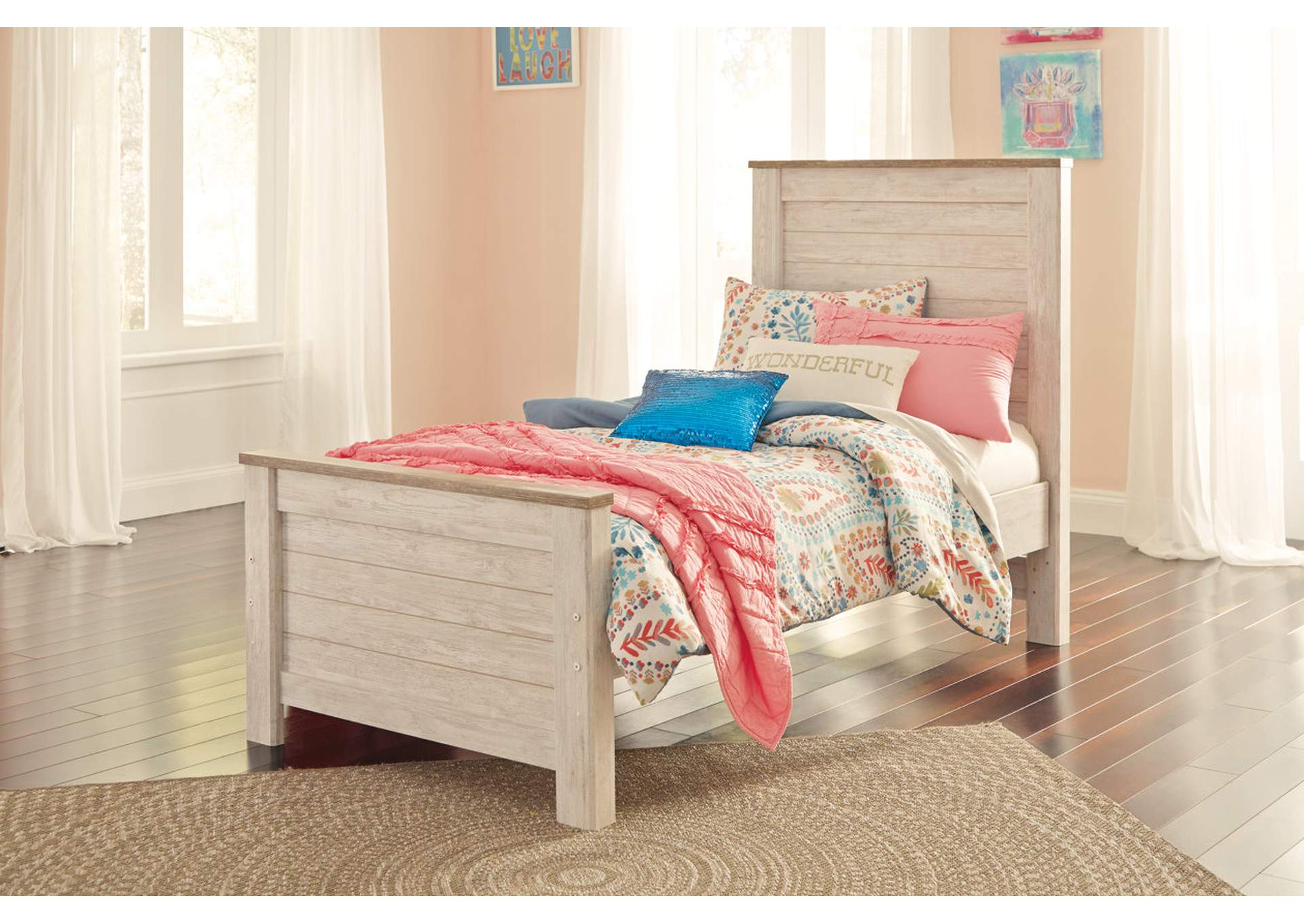 Willowton Whitewash Full Panel Bed,Signature Design By Ashley