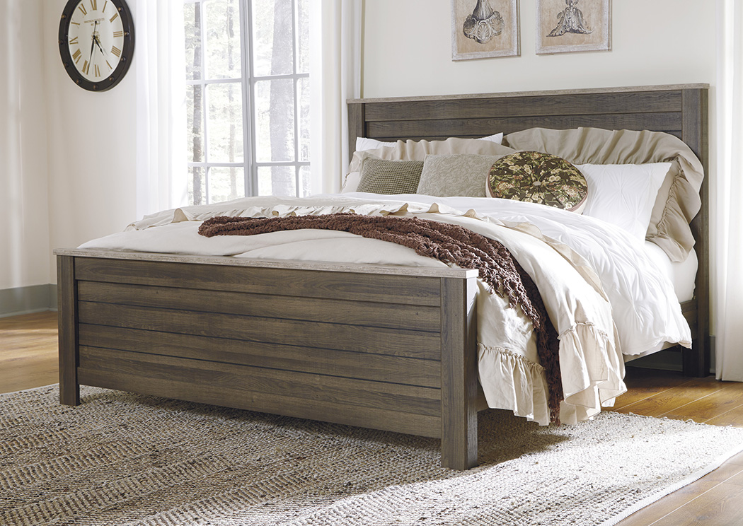 Birmington Brown California King Panel Bed,Signature Design by Ashley