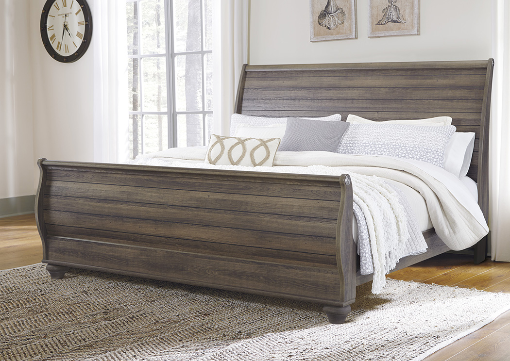 Birmington Brown King Sleigh Bed,Signature Design By Ashley