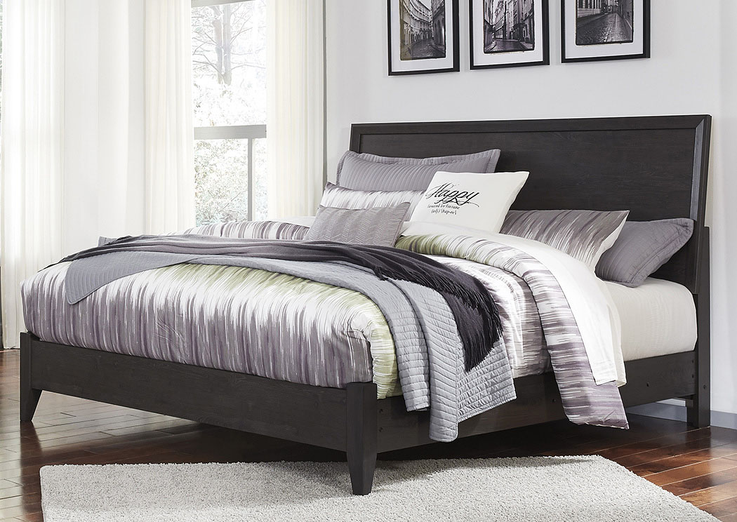 Daltori Black King Panel Bed,Signature Design By Ashley