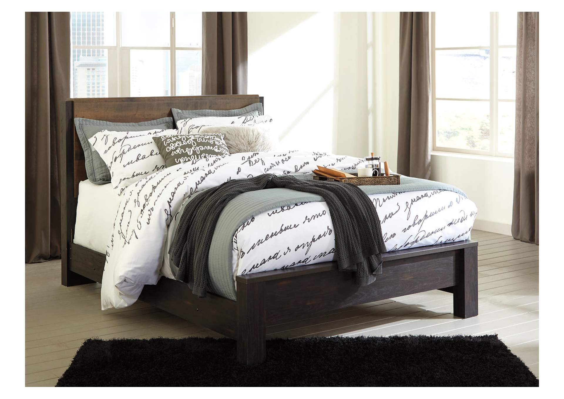 Windlore Dark Brown Queen Panel Bed,ABF Signature Design by Ashley