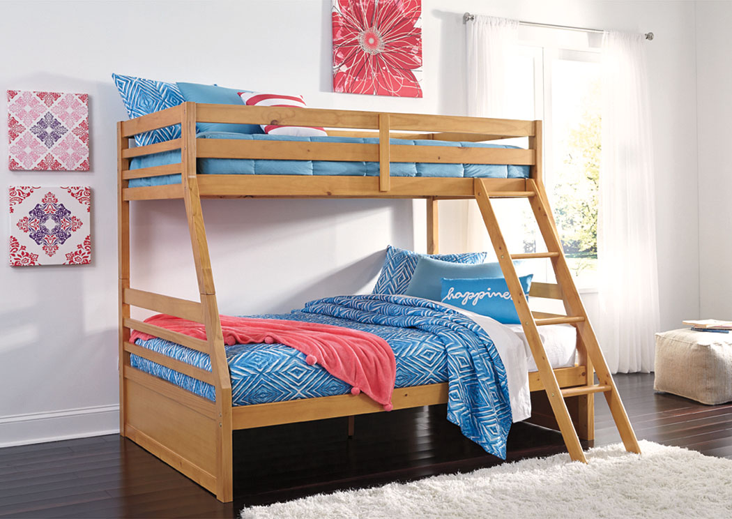 Hallytown Light Brown Twin/Full Bunkbed,Signature Design by Ashley