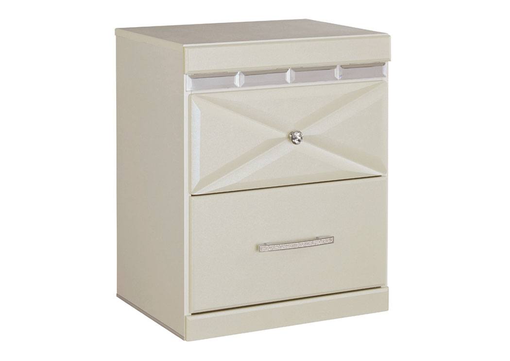 Dreamur Champagne Two Drawer Nightstand,Signature Design by Ashley