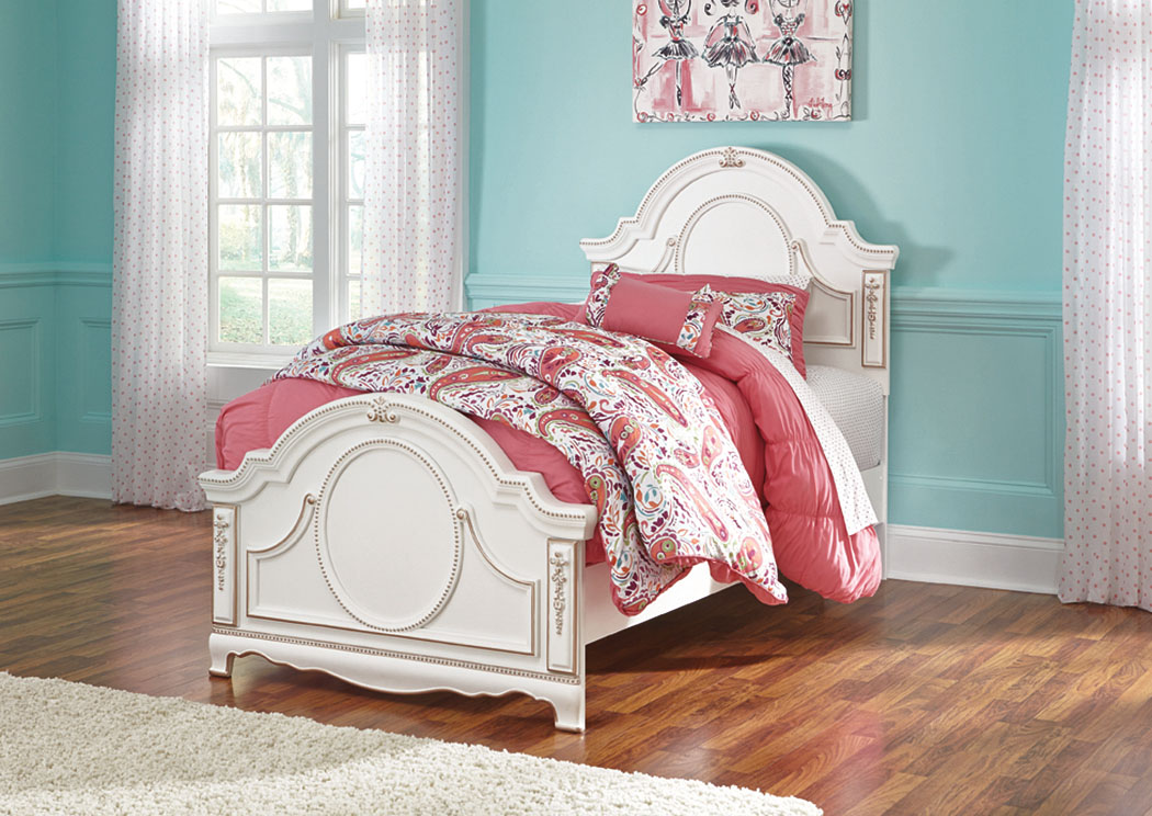 Korabella White Twin Panel Bed,Signature Design by Ashley