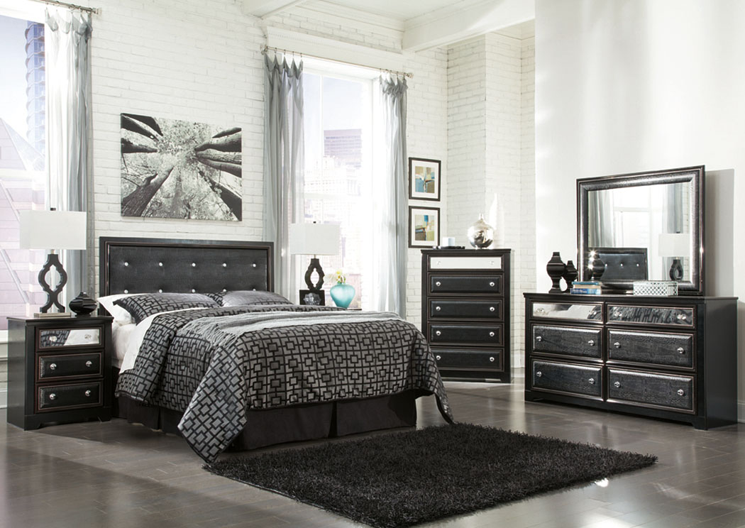 Alamadyre Queen/Full Upholstered Panel Headboard, Dresser, Mirror, Chest Nightstand,Signature Design by Ashley
