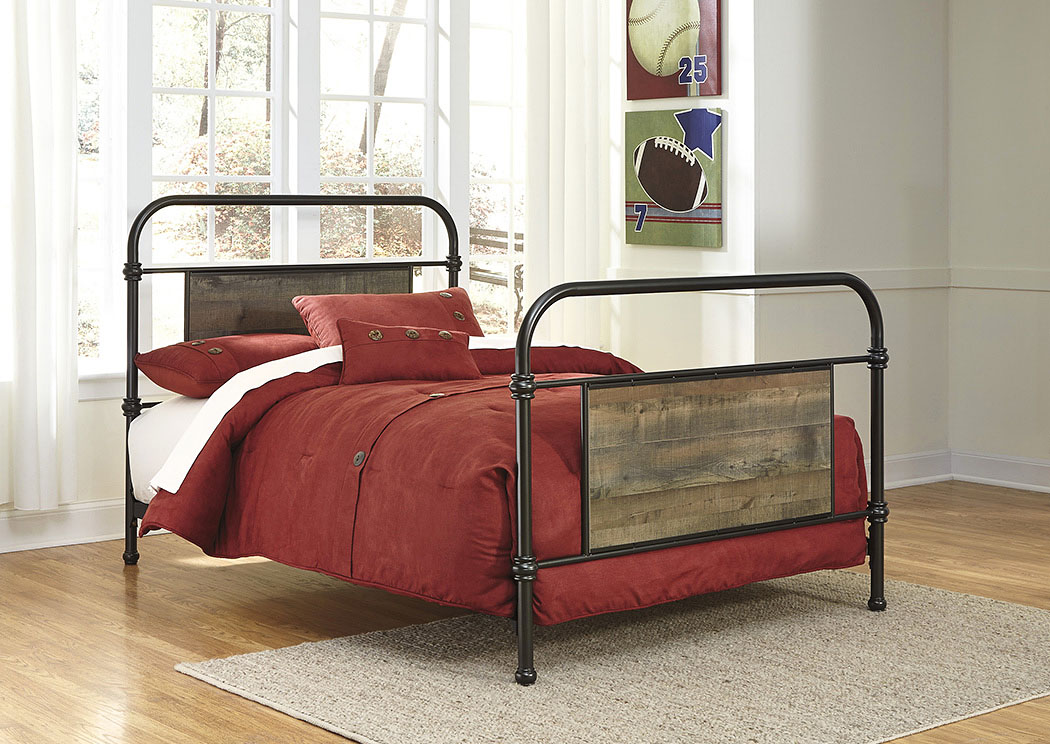 Trinell Brown Full Metal Bed,Signature Design By Ashley