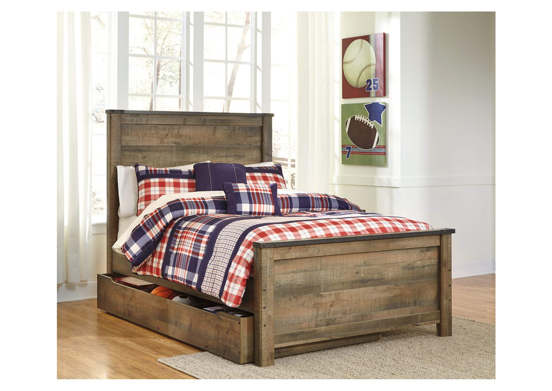 Trinell Brown Full Panel Storage Bed,Signature Design by Ashley