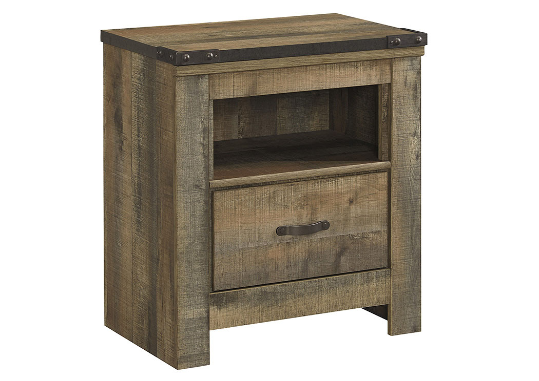 Trinell Brown One Drawer Nightstand,Signature Design By Ashley
