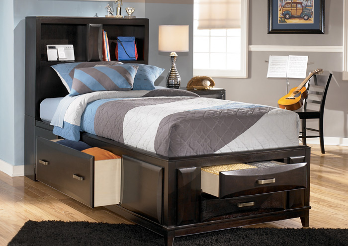 Kira Full Bed W/Under Bed Storage,Ashley