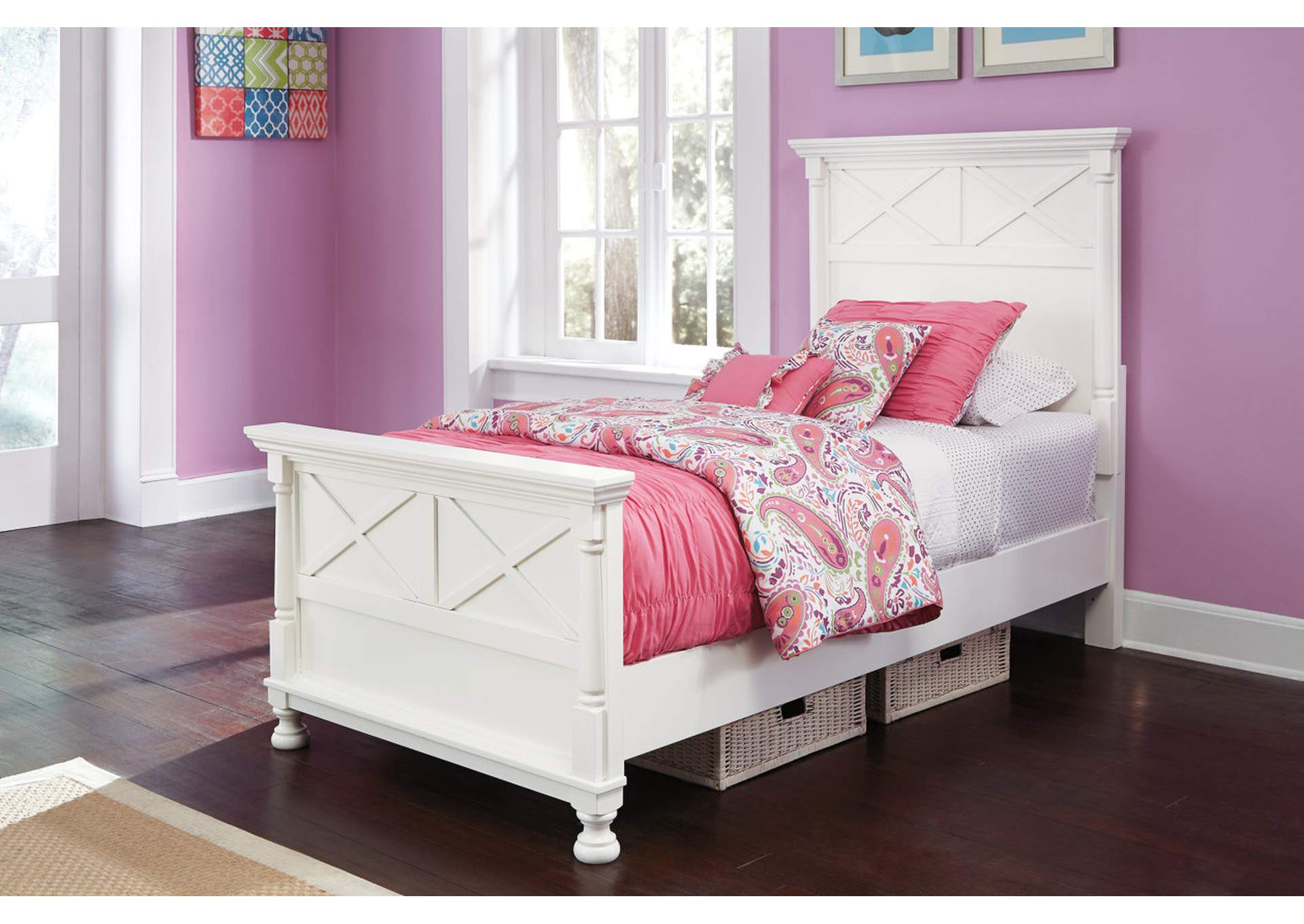 Kaslyn Twin Panel Bed,Signature Design By Ashley