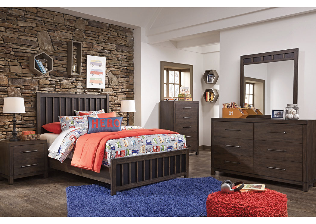 Brissley Brown Full Panel Bed w/Dresser & Mirror,Signature Design By Ashley