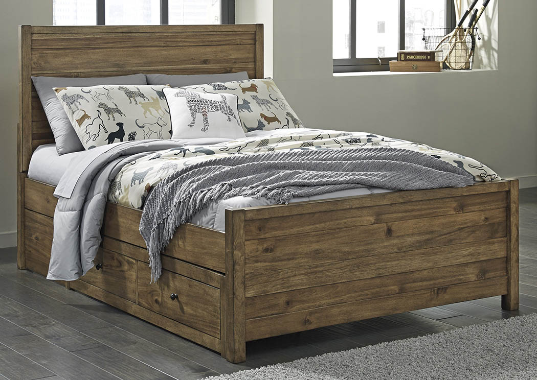 Fennison Light Brown Full Storage Bed,Signature Design by Ashley