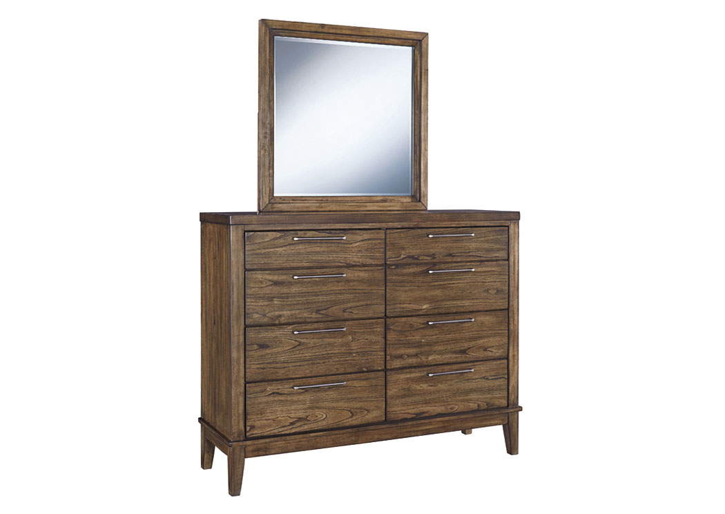 Zilmar Walnut Brown Bedroom Mirror,Signature Design By Ashley