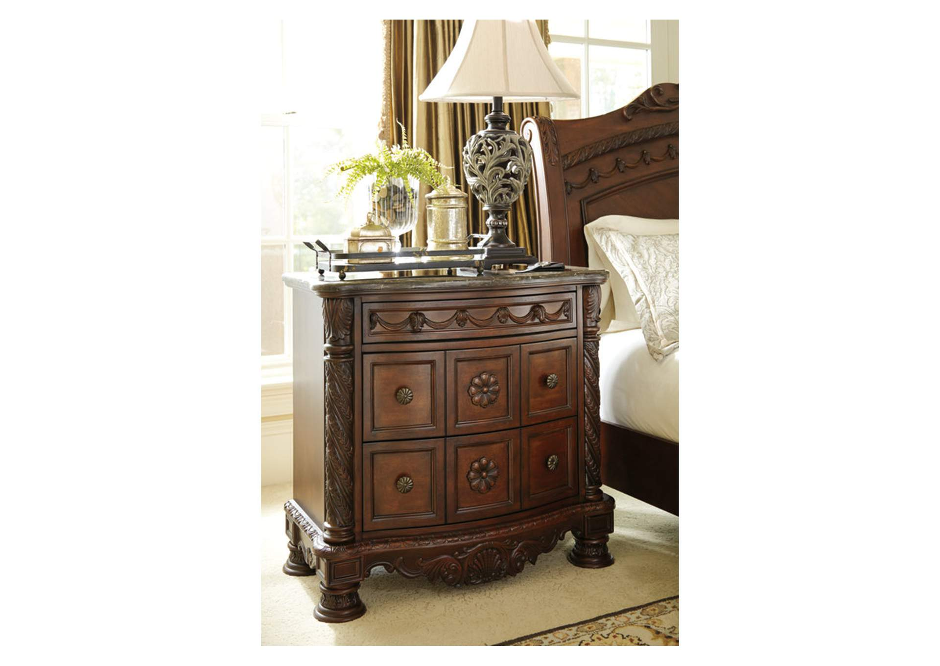 north shore canopy bedroom set. North Shore Nightstand Millennium Barbara Jeans Furniture