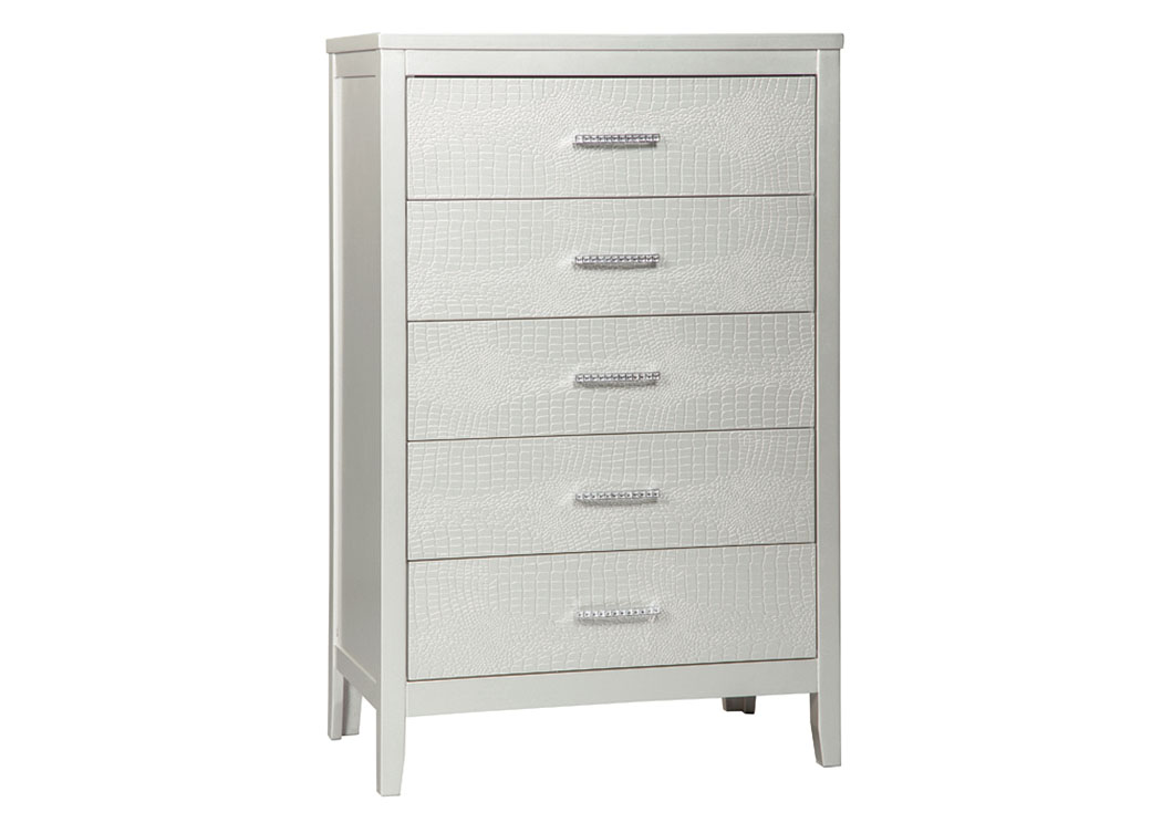 Olivet Silver Five Drawer Chest,Signature Design By Ashley